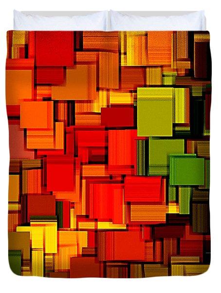 Summer Modern Abstract Art XVIII Duvet Cover by Lourry Legarde