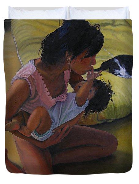 Summer Morning Cabot Arkansas Duvet Cover by Thu Nguyen