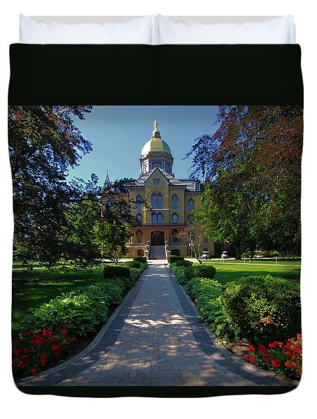 Summer On Notre Dame Campus Duvet Cover by Dan Sproul