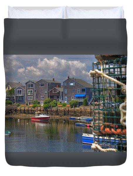 Summer On The Harbor Duvet Cover by Joann Vitali