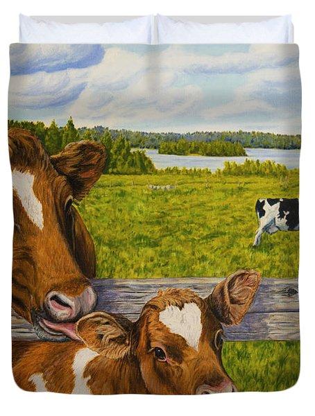 Summer Pasture Duvet Cover by Veikko Suikkanen