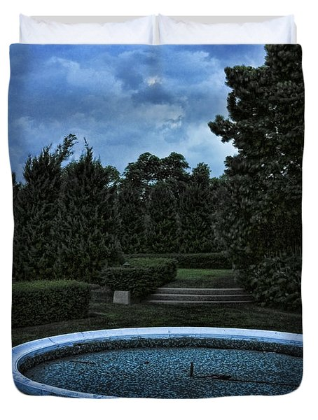 Summer Storm Coming Bahai Temple Duvet Cover by John Hansen