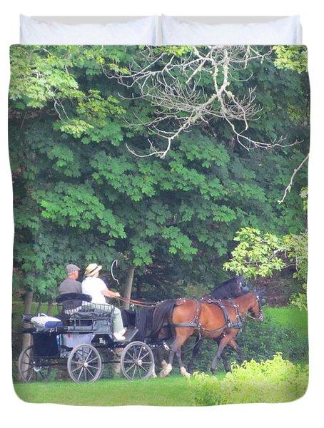 Summer Stroll Duvet Cover by Elizabeth Dow