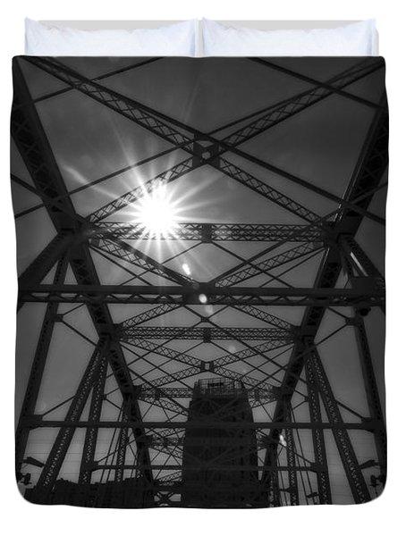 Summer Sun On Shelby Street Bridge Duvet Cover by Dan Sproul