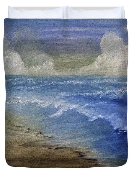 Summer Surf Duvet Cover by Judy Hall-Folde