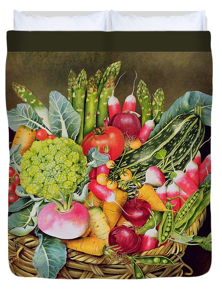 Summer Vegetables Duvet Cover by EB Watts