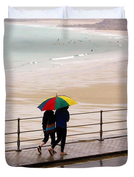 Summertime In England Duvet Cover by Terri Waters