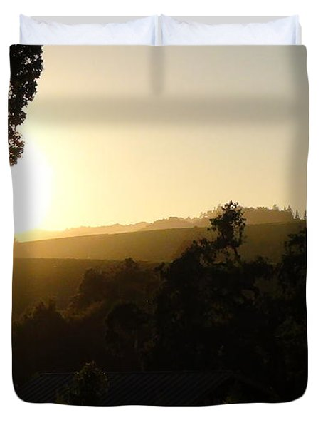 Sun Down Duvet Cover by Shawn Marlow