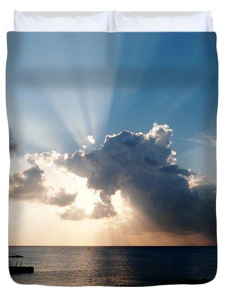 Sun Rays Duvet Cover by Amar Sheow