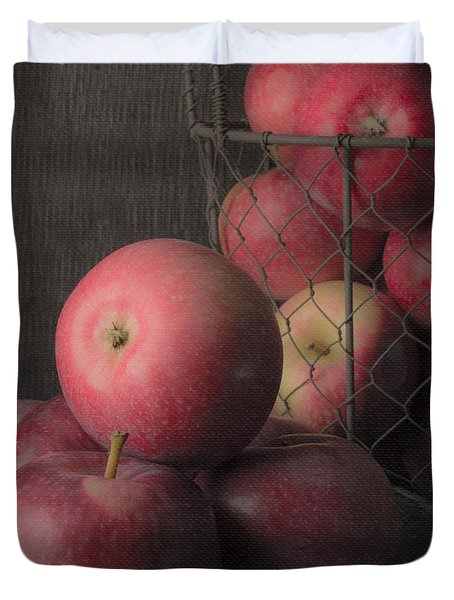Sun Warmed Apples Still Life Standard Sizes Duvet Cover by Edward Fielding