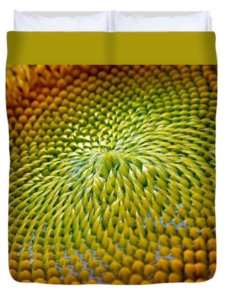 Sunflower  Duvet Cover by Christina Rollo