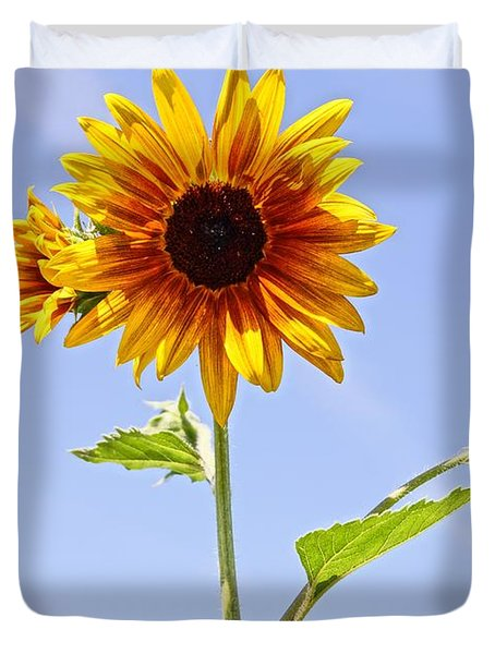 Sunflower in the Sky Duvet Cover by Kerri Mortenson