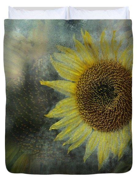 Sunflower Sea Duvet Cover by Belinda Greb