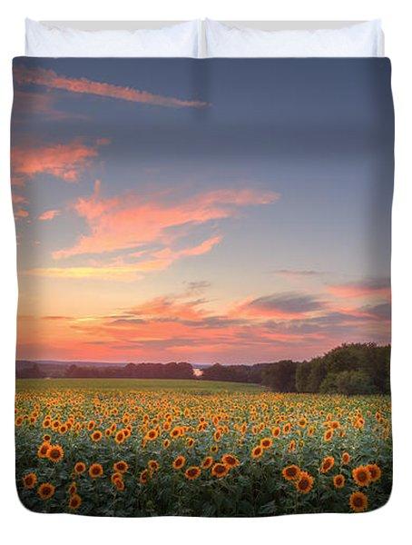 Sunflower Sunset Duvet Cover by Bill  Wakeley