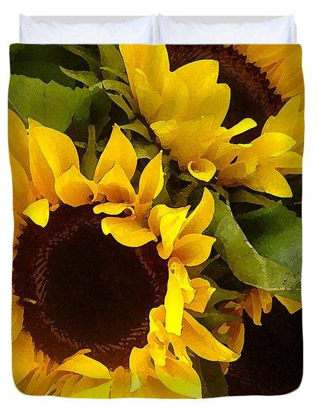 Sunflowers Duvet Cover by Amy Vangsgard