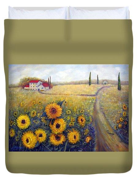 Sunflowers Duvet Cover by Loretta Luglio