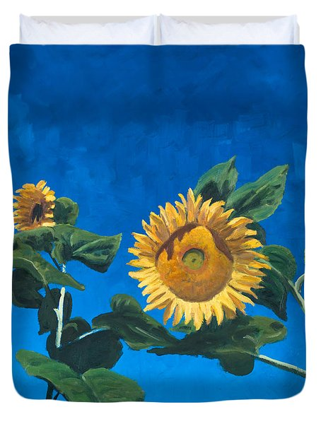 Sunflowers Duvet Cover by Marco Busoni