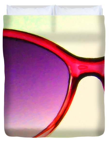 Sunglass - 5D20678 - v2 Duvet Cover by Wingsdomain Art and Photography