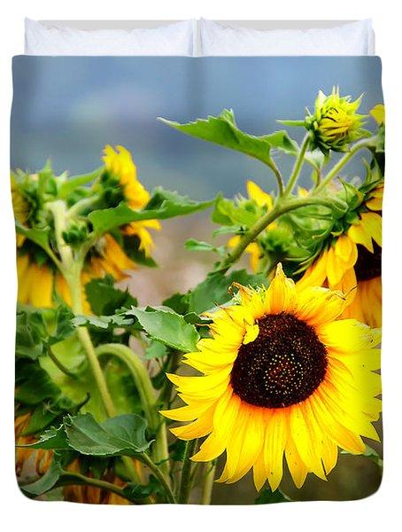 Sunny Meadow Duvet Cover by Jenny Rainbow