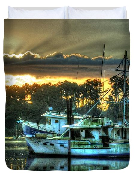 Sunrise At Billy's Duvet Cover by Michael Thomas