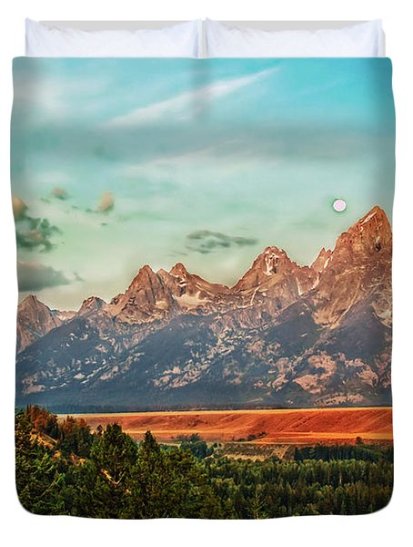 Sunrise At Grand Tetons Duvet Cover by Robert Bales
