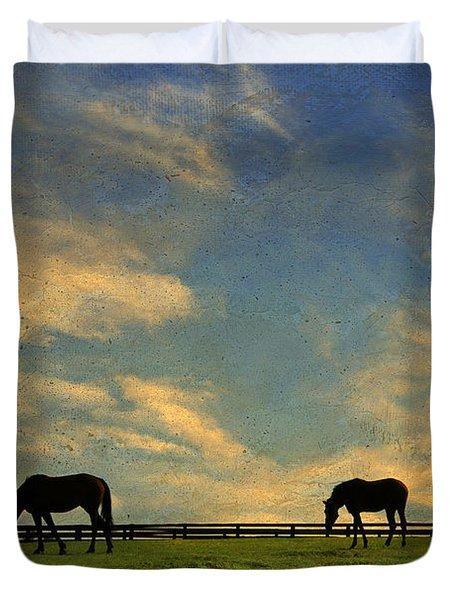 Sunrise Graze Duvet Cover by Darren Fisher