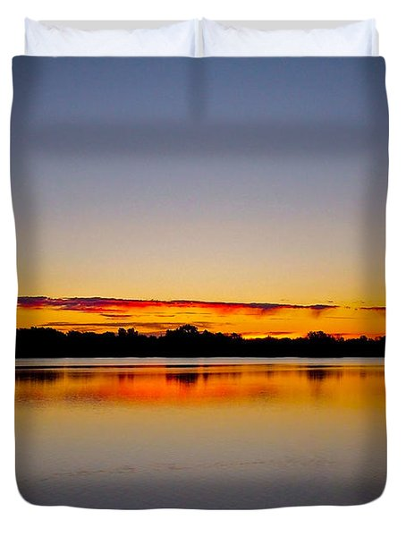 Sunrise On Riviere Des Mille-iles Duvet Cover by Juergen Weiss
