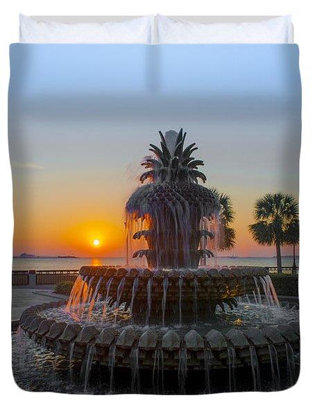 Sunrise Over Charleston Duvet Cover by Dale Powell