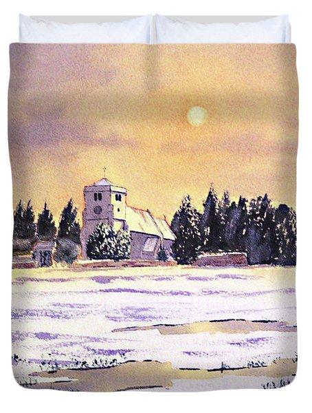 Sunrise Over St Botolph's Church Duvet Cover by Bill Holkham