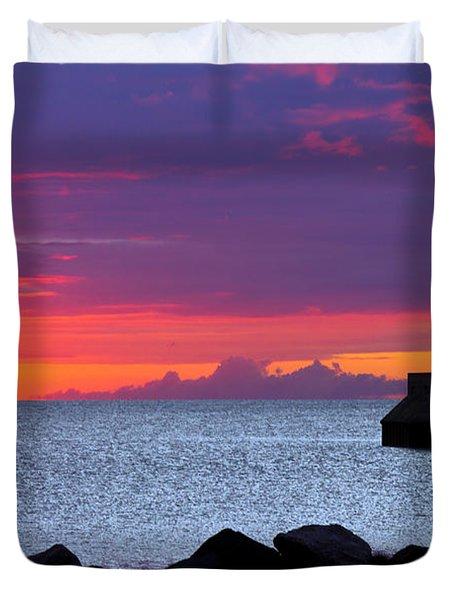 Sunrise Sailing Duvet Cover by Mary Amerman