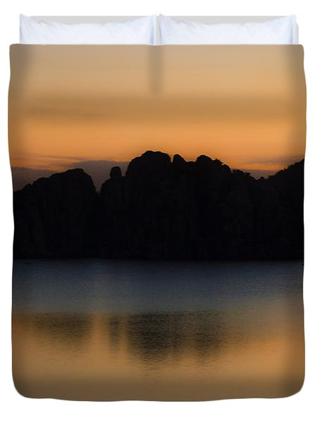 Sunrise Solitude Duvet Cover by Dave Dilli