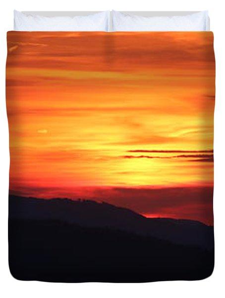 Sunset Duvet Cover by Amanda Mohler