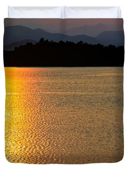 Sunset Asia  Duvet Cover by Adrian Evans