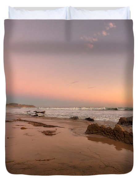 Sunset At Crystal Cove Hdr Duvet Cover by Angela A Stanton