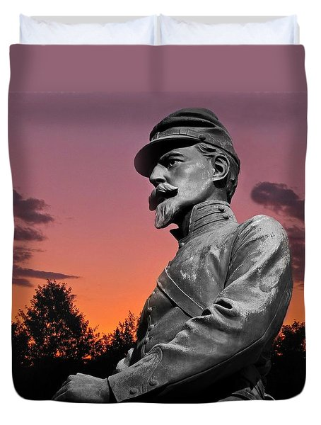 Sunset At Gettysburg Duvet Cover by David Dehner