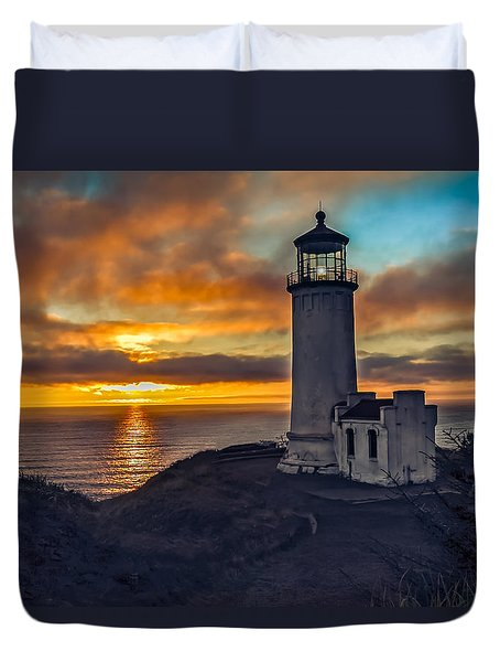 Sunset At North Head Duvet Cover by Robert Bales