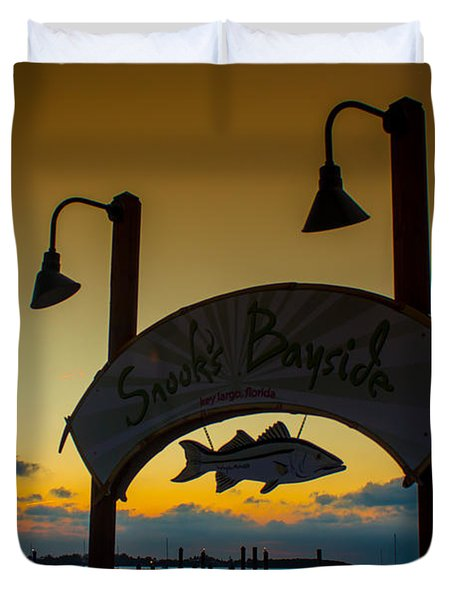 Sunset At Snooks Bayside Duvet Cover by Rene Triay Photography