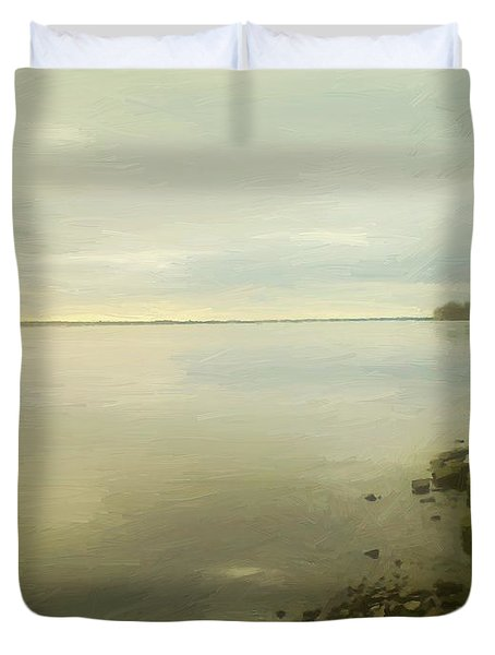 Sunset Before The Storm Duvet Cover by RC DeWinter