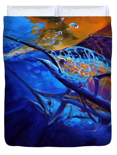 Sunset Bite Duvet Cover by Mike Savlen