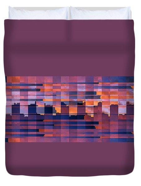 Sunset City Duvet Cover by Ben and Raisa Gertsberg