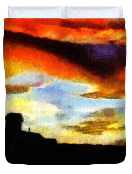 Sunset Colours Duvet Cover by Ayse Deniz