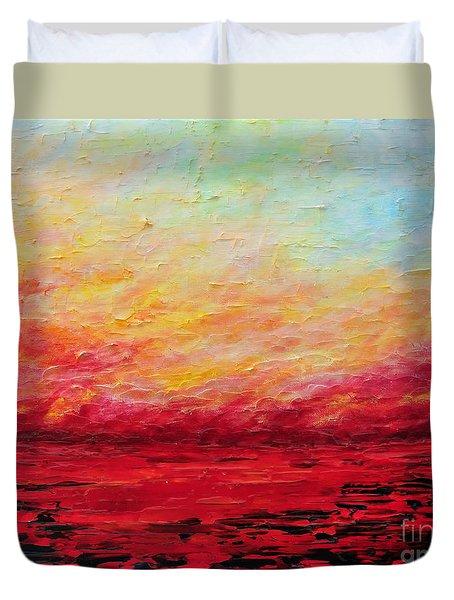 Sunset Fiery Duvet Cover by Teresa Wegrzyn