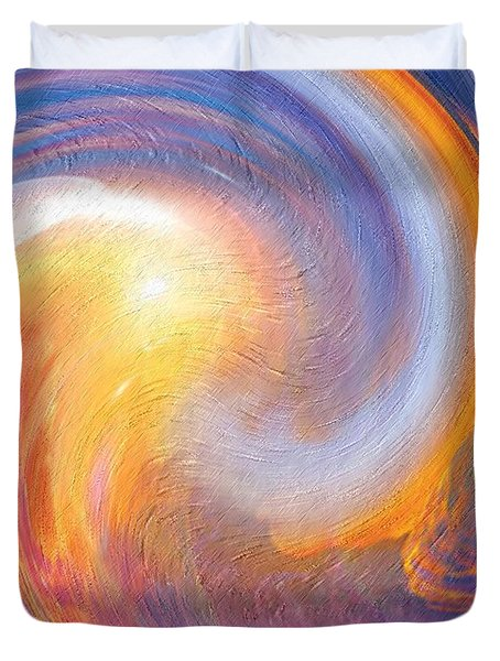 Sunset Illusions Duvet Cover by Sara  Raber