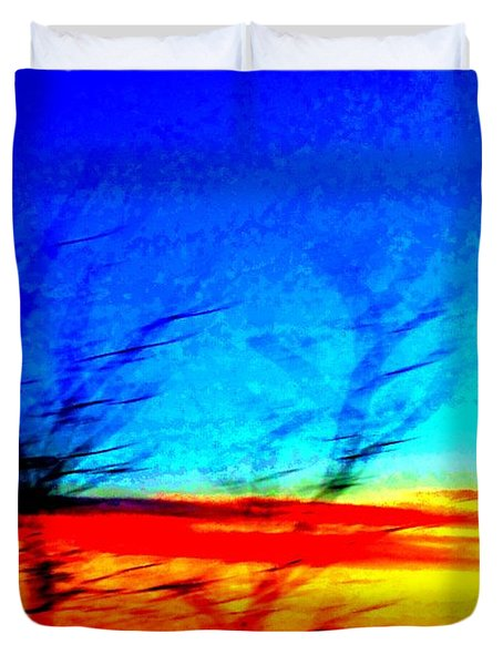 sunset in Oslo Duvet Cover by Hilde Widerberg
