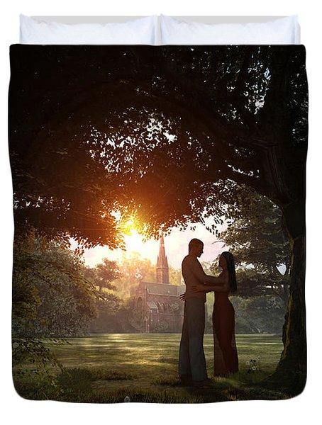 Sunset Lovers Duvet Cover by Dominic Davison