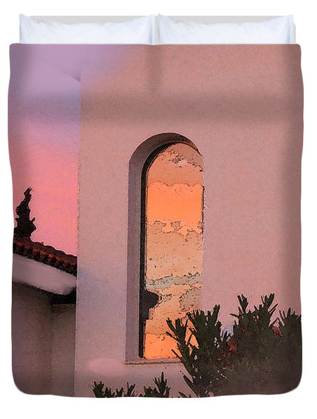 Sunset on Windows Duvet Cover by Augusta Stylianou