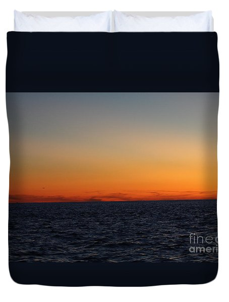 Sunset Over Point Lookout Duvet Cover by John Telfer