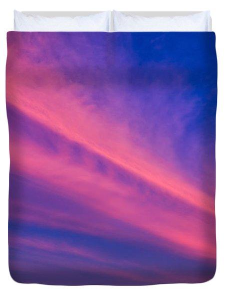Sunset Rays Duvet Cover by Adrian Evans