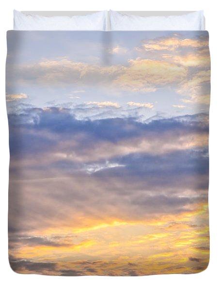 Sunset Sky Duvet Cover by Elena Elisseeva