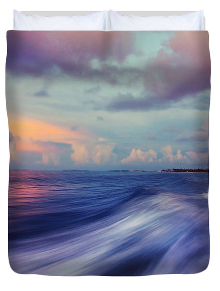 Sunset Wave. Maldives Duvet Cover by Jenny Rainbow